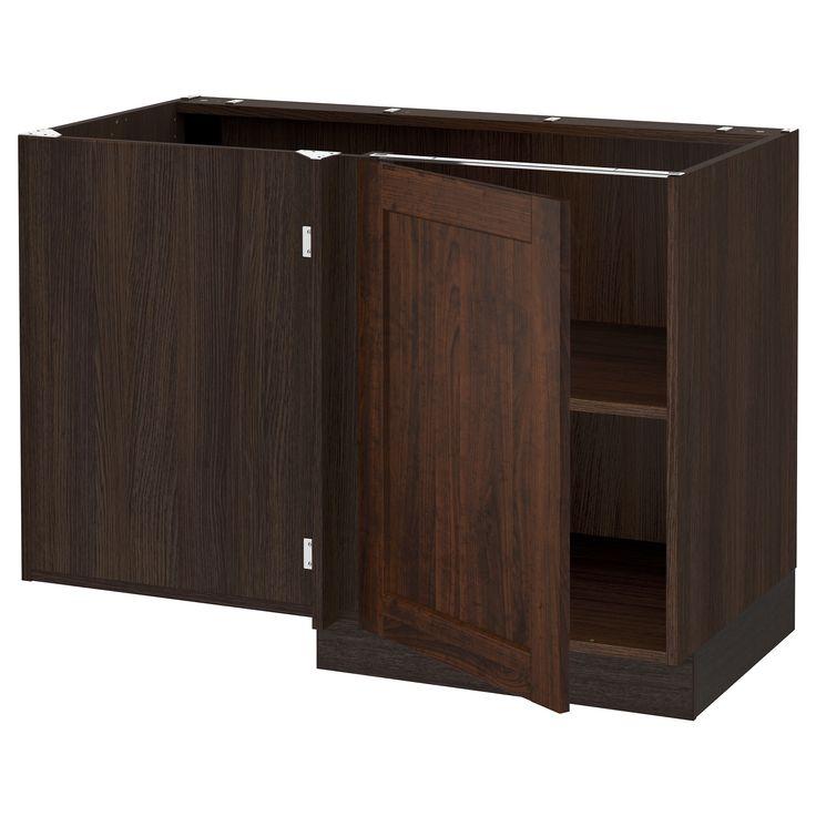IKEA - SEKTION wood effect brown Corner base cabinet with shelf Frame