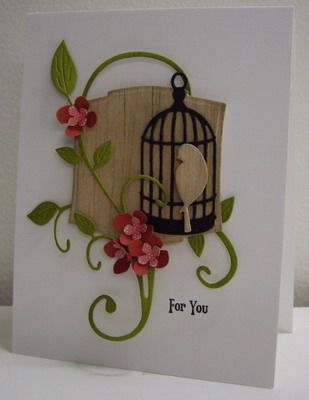 6/22/2012; Loll Thompson at 'Stamping with Loll' website; Flourish Birdcage using Cheery Lynn, Spellbinders and Poppy Stamps dies; Lovely!