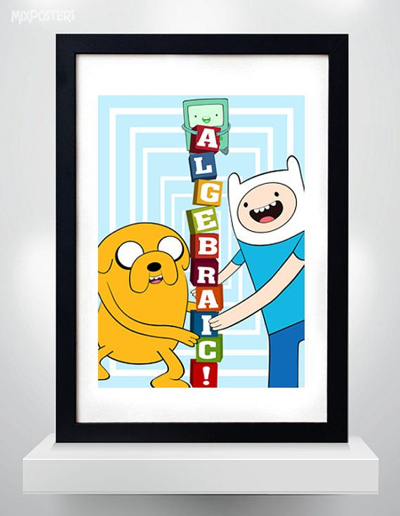 ADVENTURE TIME  ALGEBRAIC   Finn and Jake  Wall Art by MixPosters,