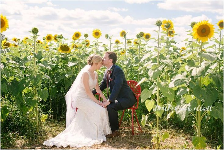 Legends Golf Club Wedding . Madison Wedding. Photo by HeatherCookElliott.com Sunflower fields wedding.