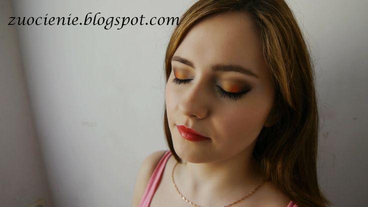 vibrant orange makeup