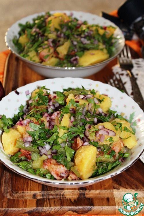 Картофельный салат с беконом и стручковой фасолью - кулинарный рецепт