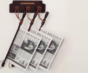 Soporte para diarios  revistas en los cafés..!