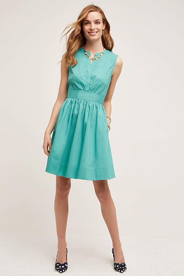 Adrian Shirt Dress, Turquoise | Anthropologie