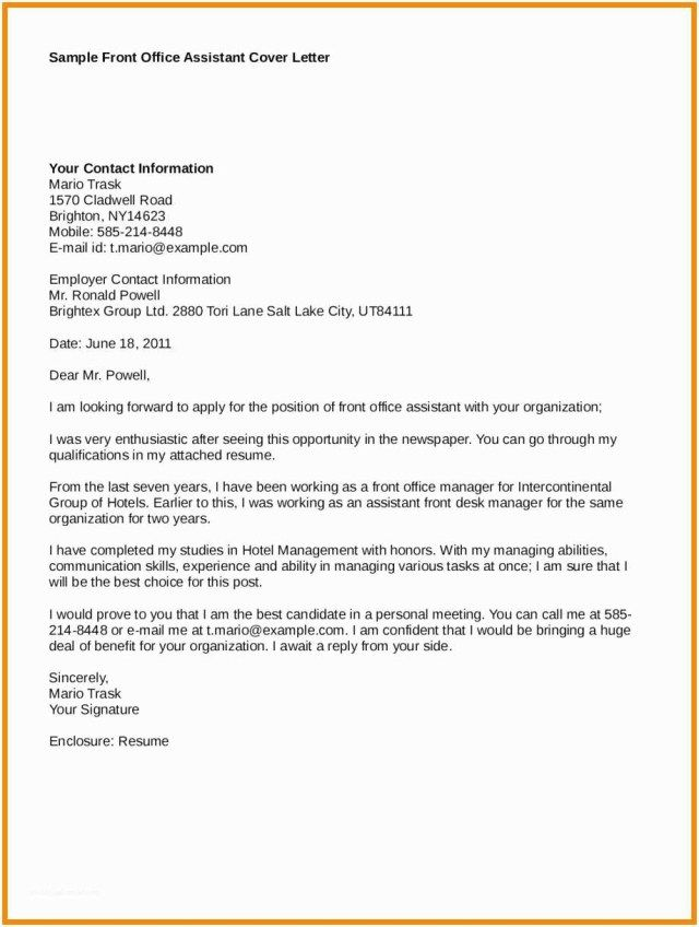 23 Office Manager Cover Letter