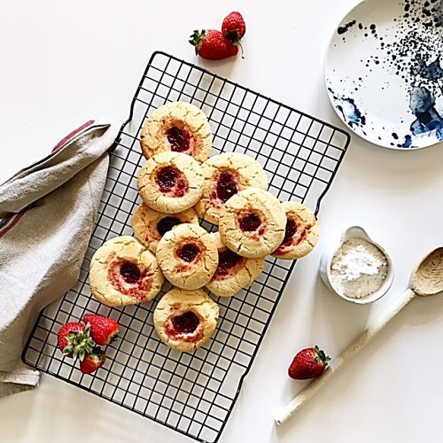 Old Fashioned Jam Drop Biscuits - The Stylist Splash