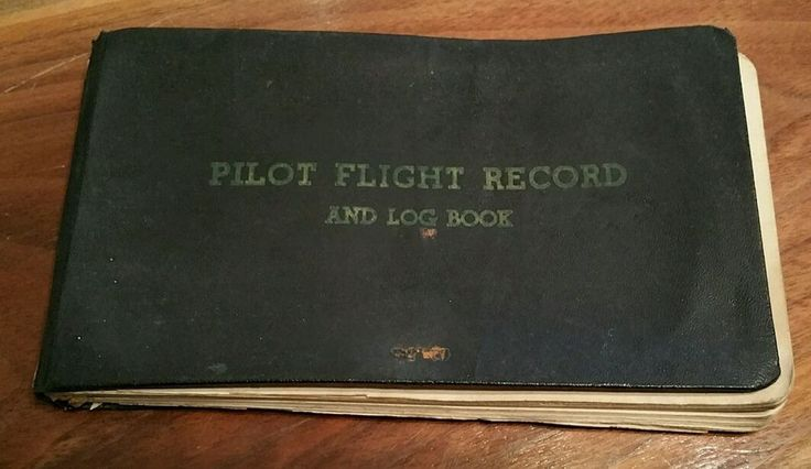 Pilot Flight Record Log Book 1947 Cub J3-C65 plane, male, Mason Michigan vintage