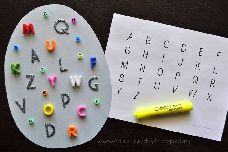 I HEART CRAFTY THINGS: Alphabet I-Spy Game