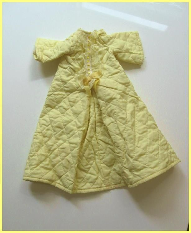 Vintage Ideal TALKY VELVET Doll's Original YELLOW QUILTED ROBE, Ex! #Ideal #ClothingAccessories