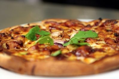 Wood-Oven Baked Pizza - loved the pizza @ Wolfgang Puck Bar & Grill! MGM Grand - Vegas