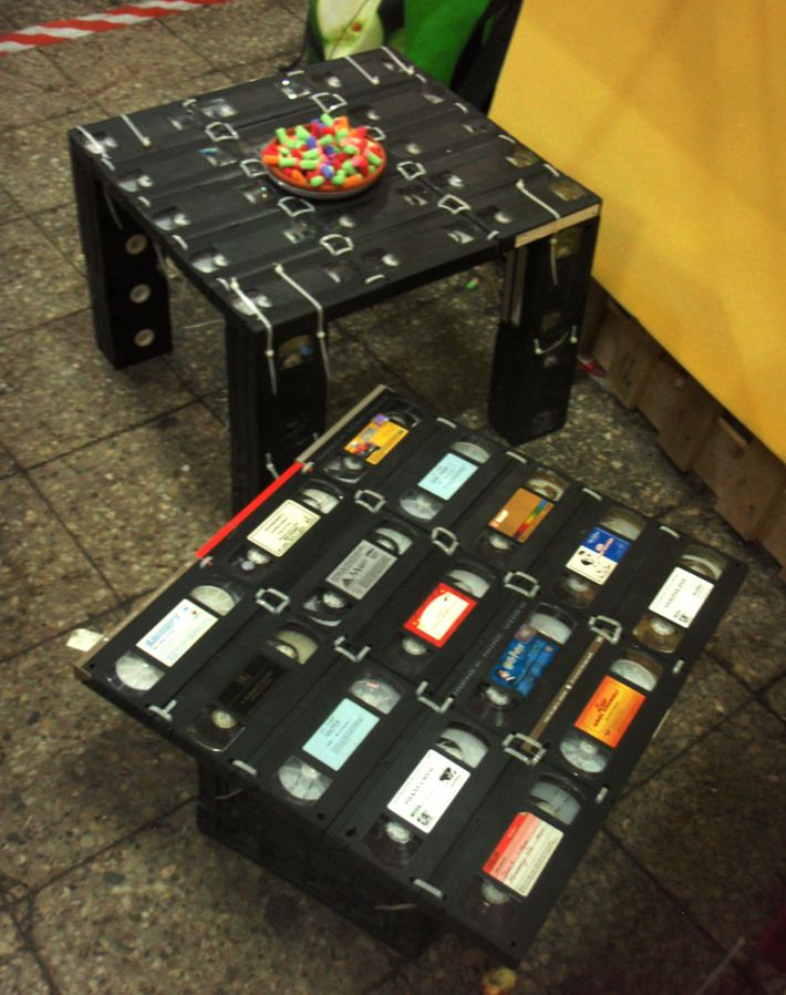 Table Made From Vhs Tapes Upcycle Amp Repurpose