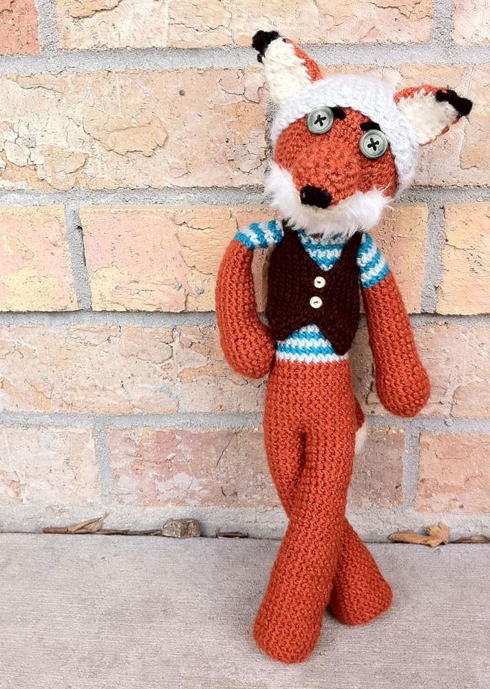 Amigurumi Crochet Fox, Fantastic Hipster Fox Made To Order. $63.00 ...