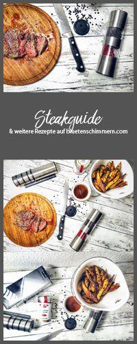 Ein gutes Steak ist nicht immer einfach zuzubereiten - mit dem Steakguide lernst Du verschiedene Steaksorten kennen und ich erzähle Dir, wie Du es am besten zubereitest! Als Beilage eignen sich dann natürlich diese leckeren Kartoffelecken. <3 #steak #steakguide #zubereitung #steak #rezept #messerschärfer #pfeffer #pfeffermühle #fleisch #rezepte #steakpfeffer #hüftsteak #rumpsteak #tbone #lecker #foodporn #gewürze #würzen #messer #guteküche #küchentipps #tipps  #rind #rinderfilet #medium…