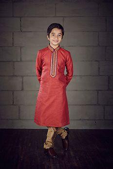 Bhagalpuri cotton kurta churidar highlighted with sequins from #Benzer #Benzerworld #Kidwear #Kurta #KurtaForKids