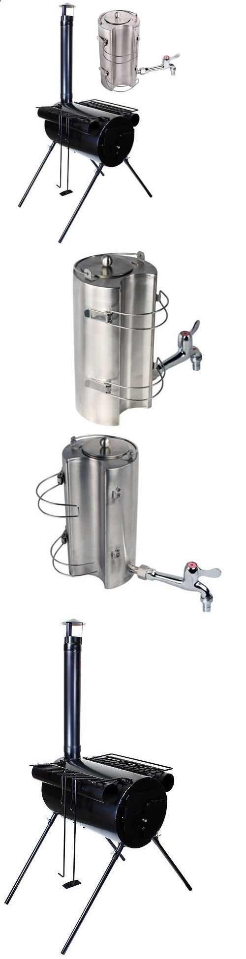 Camping Kettle - Camping Stoves 181386: Portable Military Camping Ice Fishing Cook Wood Stove Tent Heater Water Kettle -> BUY IT NOW ONLY: $57.95 on eBay!