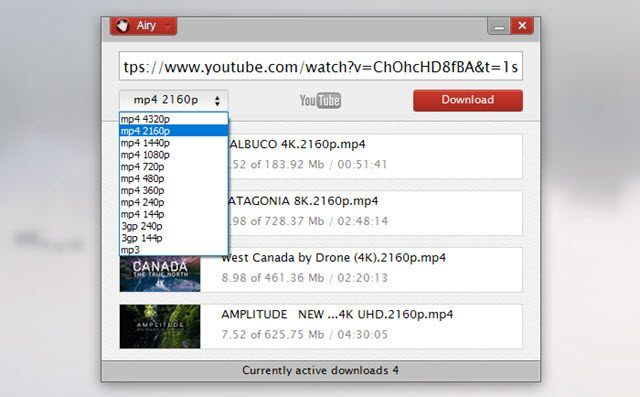 Airy para descargar videos de YouTube rápido y sencillo