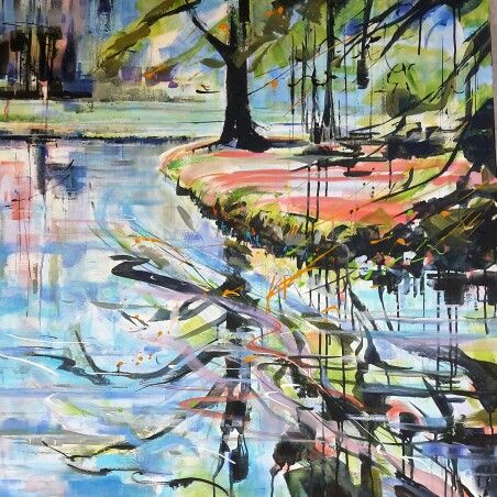 Baarn kasteel Groeneveld. A ryl on canvas. 1x1 mtr