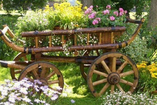 Resultado de imagem para тележка с цветами