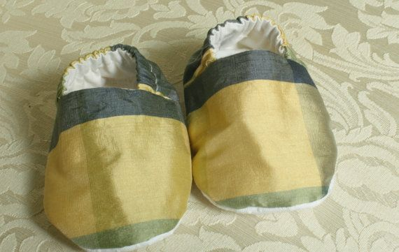 Silk Slippers Toddler Slippers Baby Slippers by sunsparrowsewing, $15.00