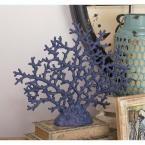 17 in. x 14 in. Pumice-Textured Indigo Polystone Coral Tree, Blues