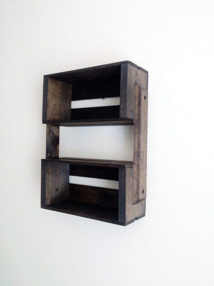 SALE+Small+Wooden+Crate+Hanging+Shelf+Wall+Fixture+by+CLDecor,+$35.00