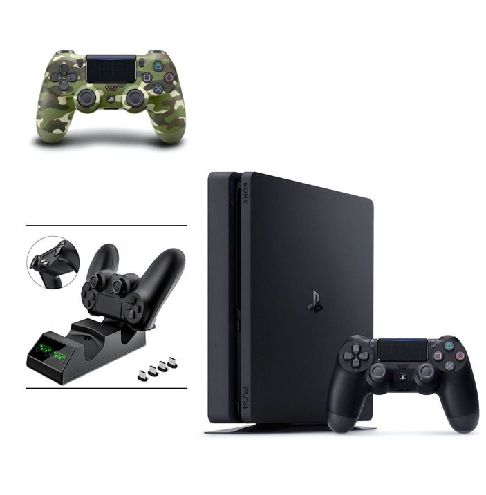 Sony Playstation 4 Slim 1tb Black Console Brand New 2 Controllers Ps4 Gaming Video Sony Playstation Playstation 4 Playstation