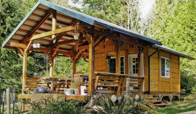 how to build a log cabin foundation