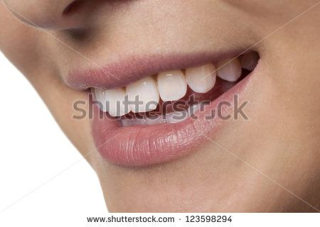 Close-up of nice young woman's smile