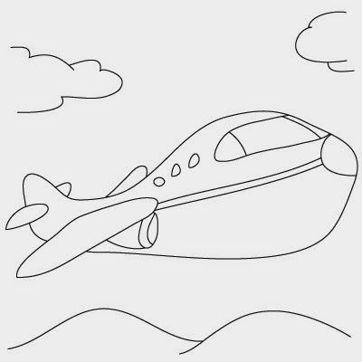 Comment dessiner un avion - http://www.dessein-de-dessin.com/comment-dessiner-un-avion/