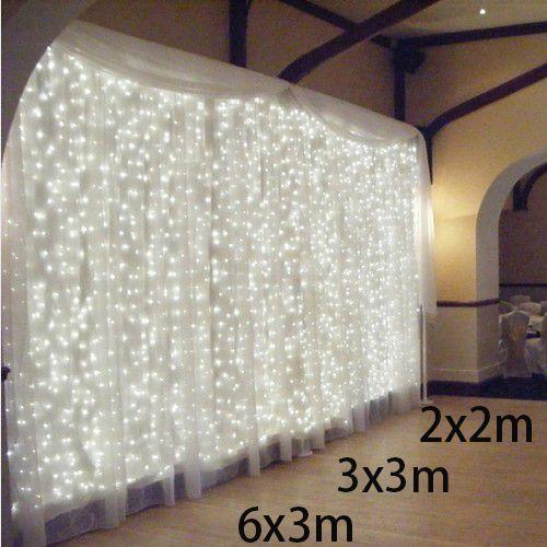300leds fairy string icicle led curtain light 300 bulbs Outdoor Home Xmas Christmas Wedding garden party decoration 220V 4.5M*3M