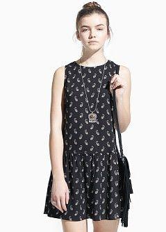 paisley print dress / mango