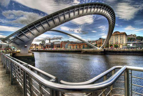 Newcastle Bridge - The Millennium Footbridge across the River Tyne in Newcastle.