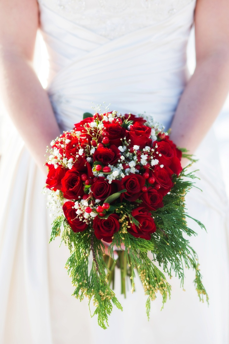 52 Best Images About Christmas Wedding Bouquets On
