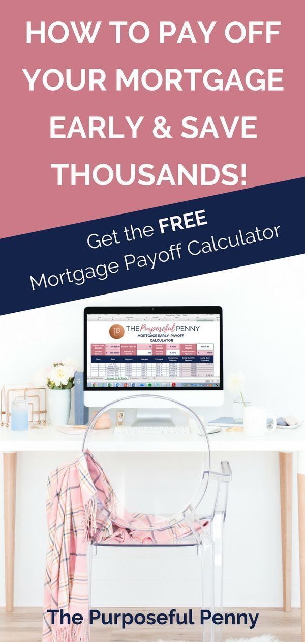 mortgage early payoff calculator frugal living pinterest