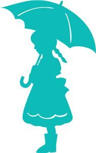 silhouette of little kid under umbrella - Google Search