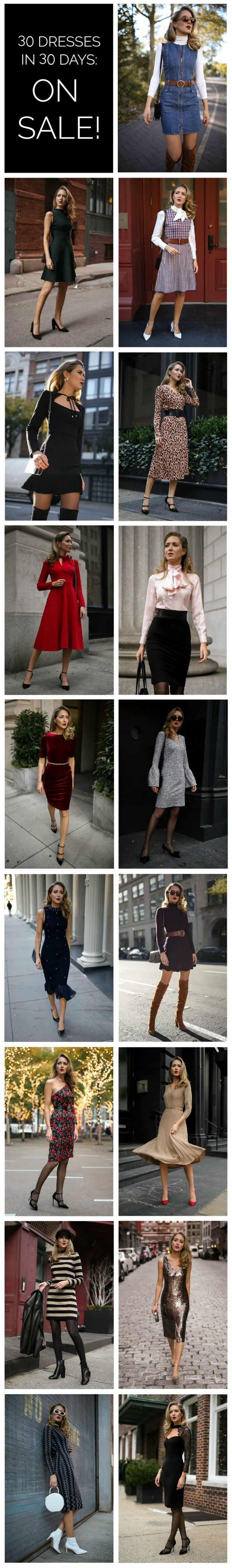 30 DRESSES IN 30 DAYS ON SALE NOW! {Black Friday Sales 2017, Black Friday 2017, DVF, Alice and Olivia, J Crew, Club Monaco, Nic and Zoe, See by Chloe, Jonathan Simkhai, Boden, Ted Baker, Black Halo, Tory Burch, Rebecca Vallance, Maje, holiday style, holiday style 2017, holiday dresses, festive style 2017, festive style, classic dressing, classy style, best of Black Friday 2017}
