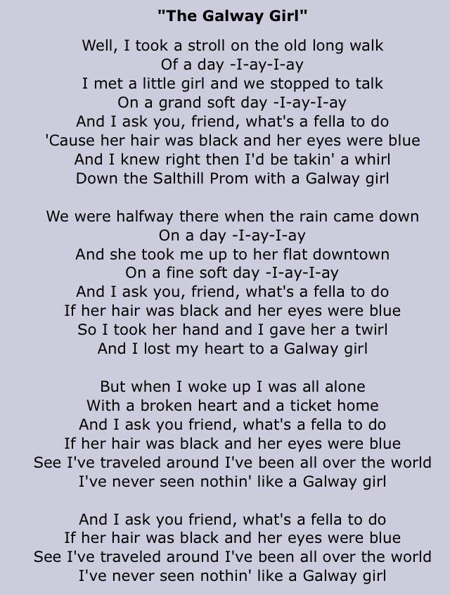 Galloway Girl lyrics - <3 <3 <3 celtic thunder version of this song