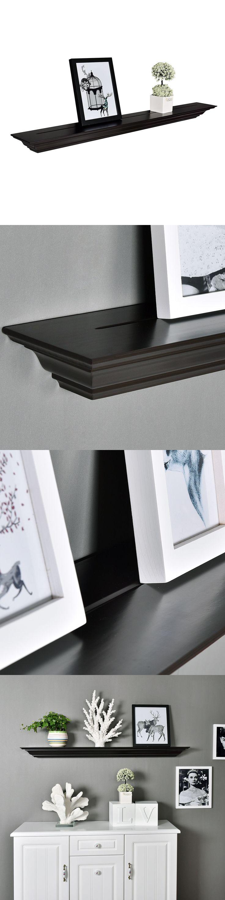 Wall Shelves 45501: Welland Corona Crown Molding Floating Wood Wall Shelf, 48-Inch, Espresso -> BUY IT NOW ONLY: $51.99 on eBay!