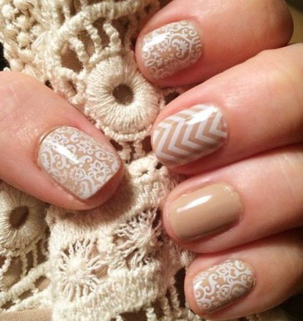 If you're not up to making Chevron strips, then you can find stencils for nail art. It would be so much easier to use. Plus, you can find intricate and beautiful patterns to work with like in here.