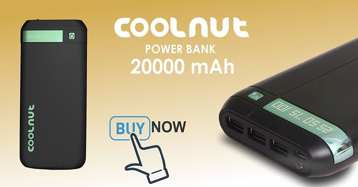 COOLNUT 20000mah Power Bank (Black)... - null
