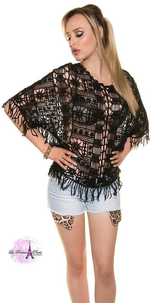 Blusa Black Crochet