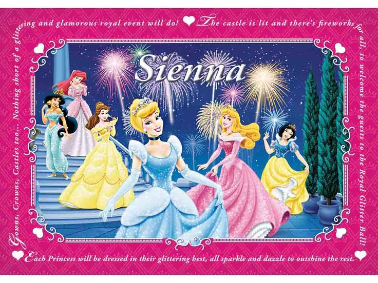 I Just Love It Disney Princess Personalised Placemat Disney Princess Personalised Placemat - Gift Details. So who is that little girl?s favourite Disney Princess? Starring Snow White Cinderella Belle to name but a few this beautiful Disney Princess p http://www.MightGet.com/march-2017-1/i-just-love-it-disney-princess-personalised-placemat.asp