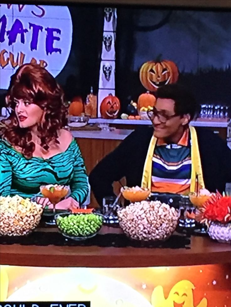 """Best Steve Urkel costume by Carla from """"The Chew"""""""