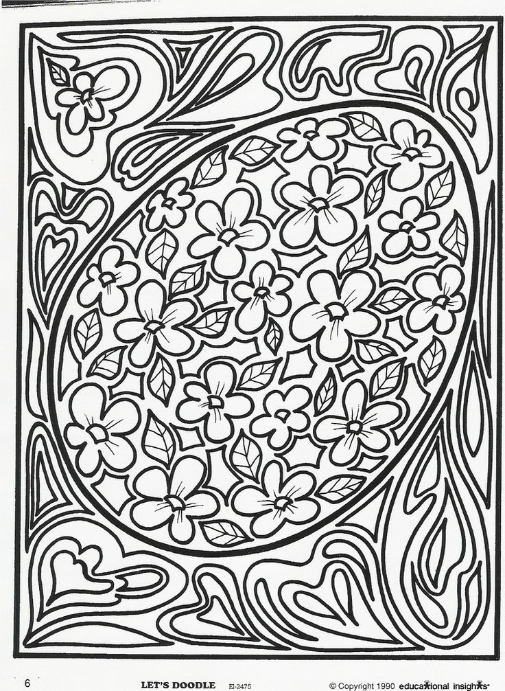 Doodle art coloring pages for kids it s a coloring page just for