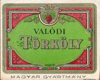 VINTAGE LIQUOR LABEL 1930s HUNGARY PALINKA