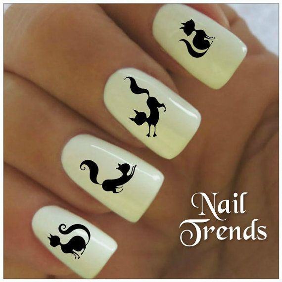 Cat Vinyl Nail Stickers, Nail Art Decals