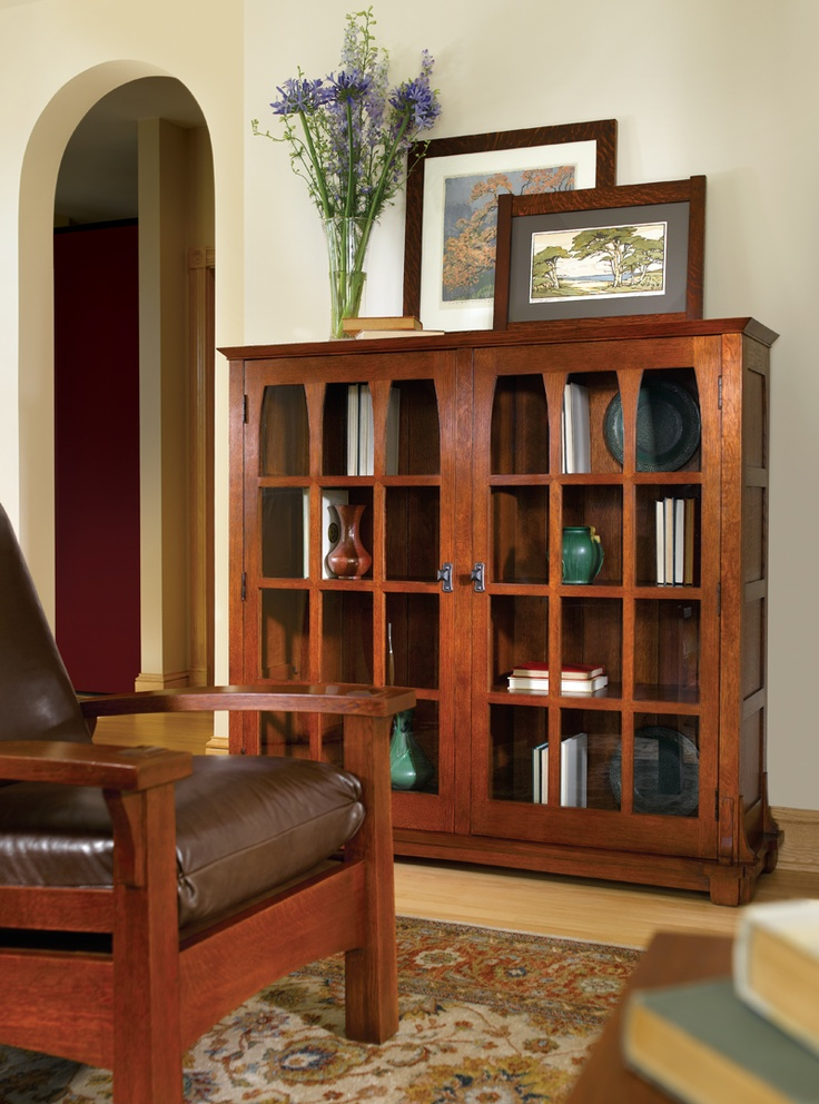 Stickley Gus Commemorative Bookcase Craftsman Bookcases Cabinets And  Computer Armoires