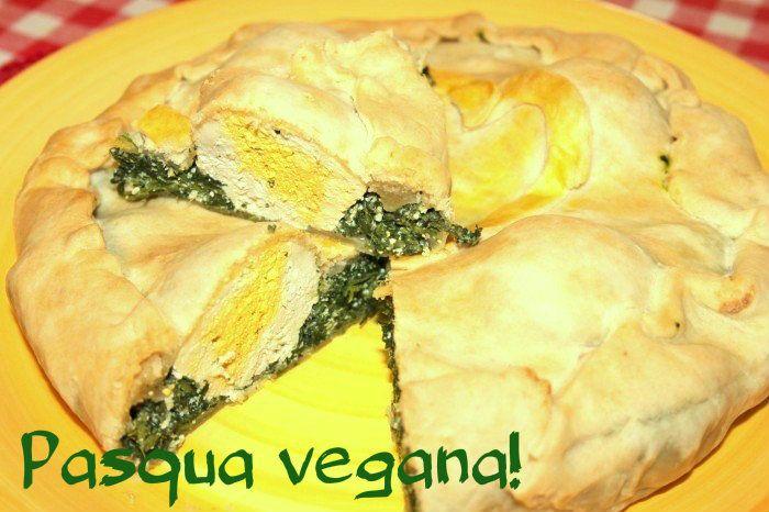 Al pic nic pasquale non si può proprio rinunciare... ecco la mia torta pasqualina vegan con tanto di uova finte!