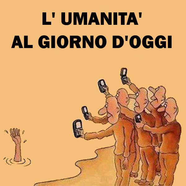 L'umanita al giorno d'oggi - Humanity nowadays. A not so nice comment on our new habits/