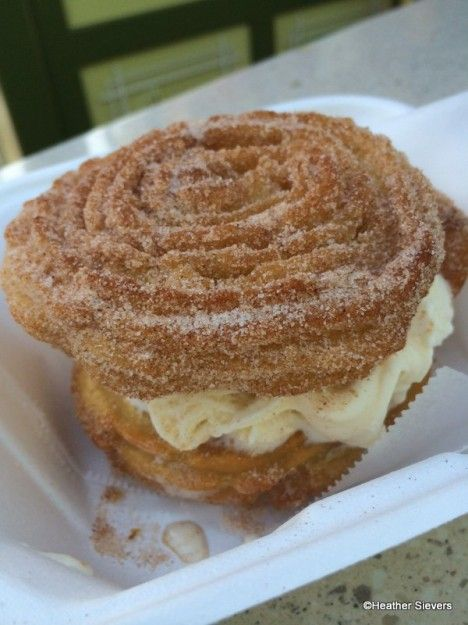 The Churro Ice Cream Sandwich in Disneyland